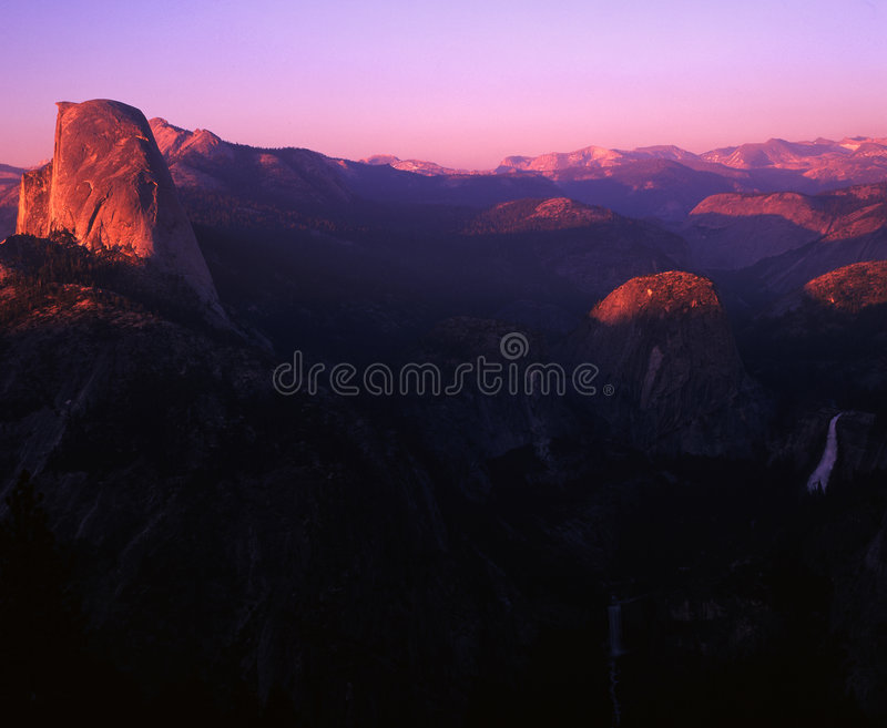 Sunset over Yosemite royalty free stock images
