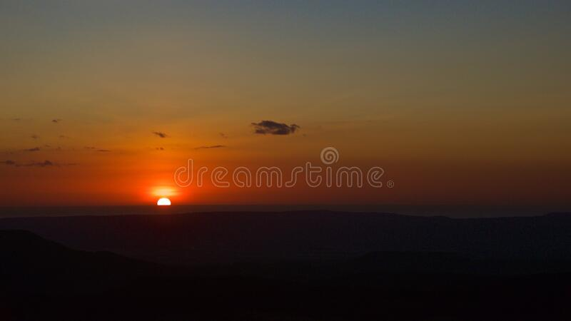 Sunset on Pacific Ocean at Guanacaste in Costa Rica stock images
