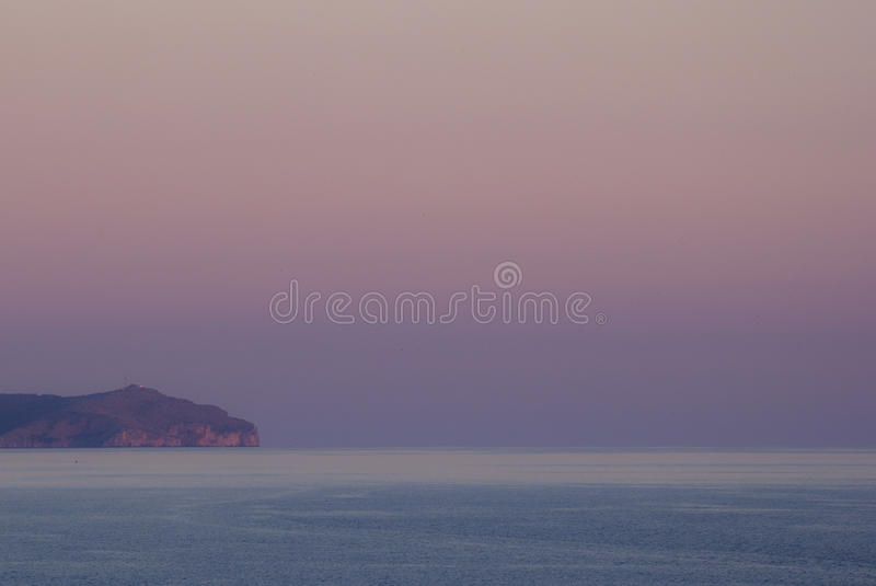 Sunset in Palinuro royalty free stock images