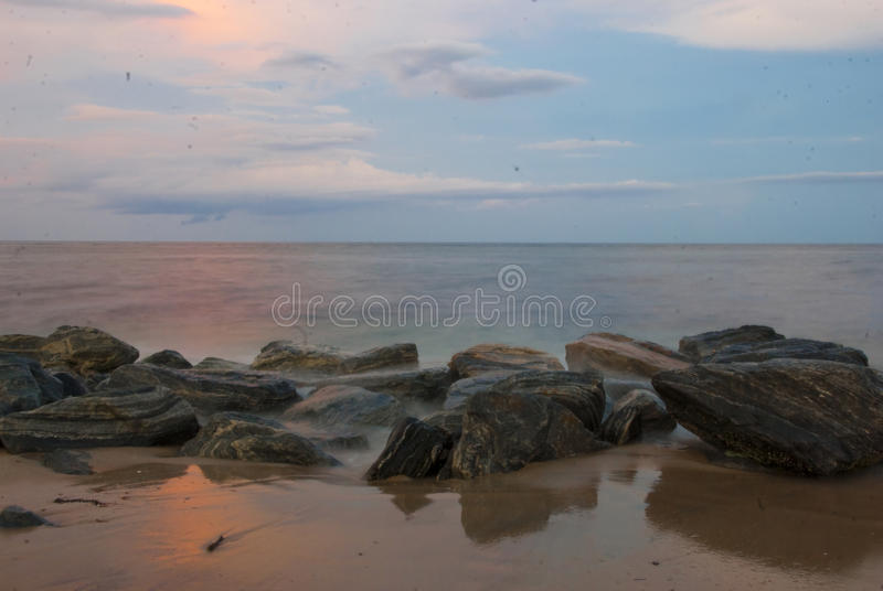 Sunset At Palm Beach royalty free stock image