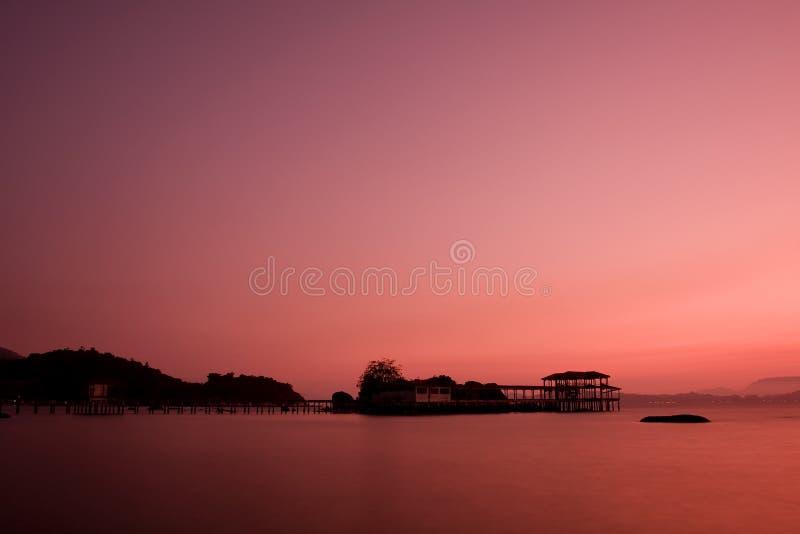 Sunset at pangkor island royalty free stock photography