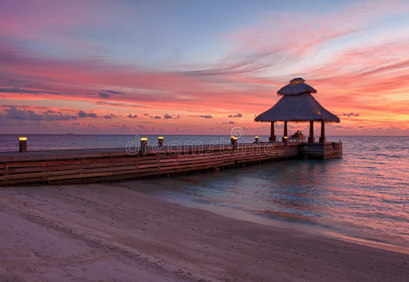 Download Sunset in the paradise stock image. Image of landscape - 22268183