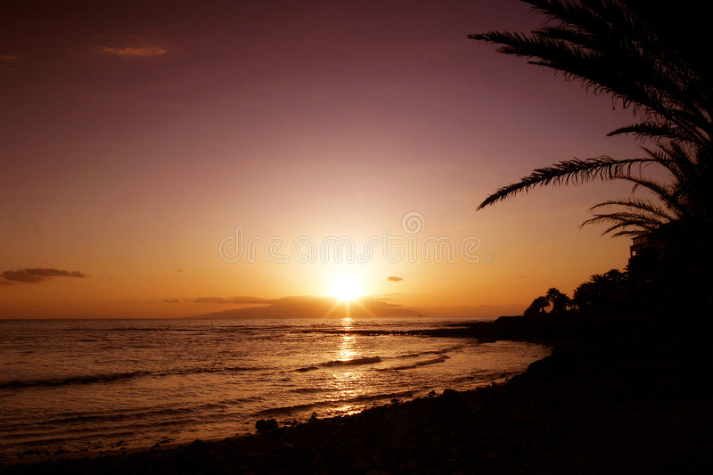 Sunset Paradise royalty free stock photography