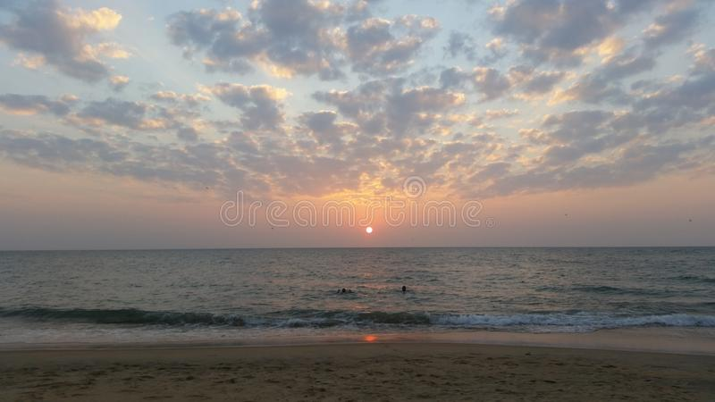Sunset in paradise stock image