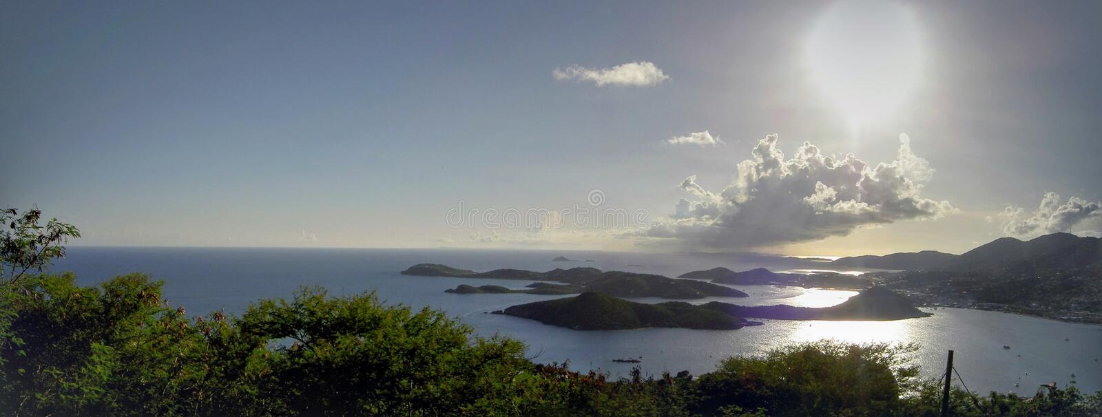 Sunset at Paradise Point in the US Virgin Islands royalty free stock image