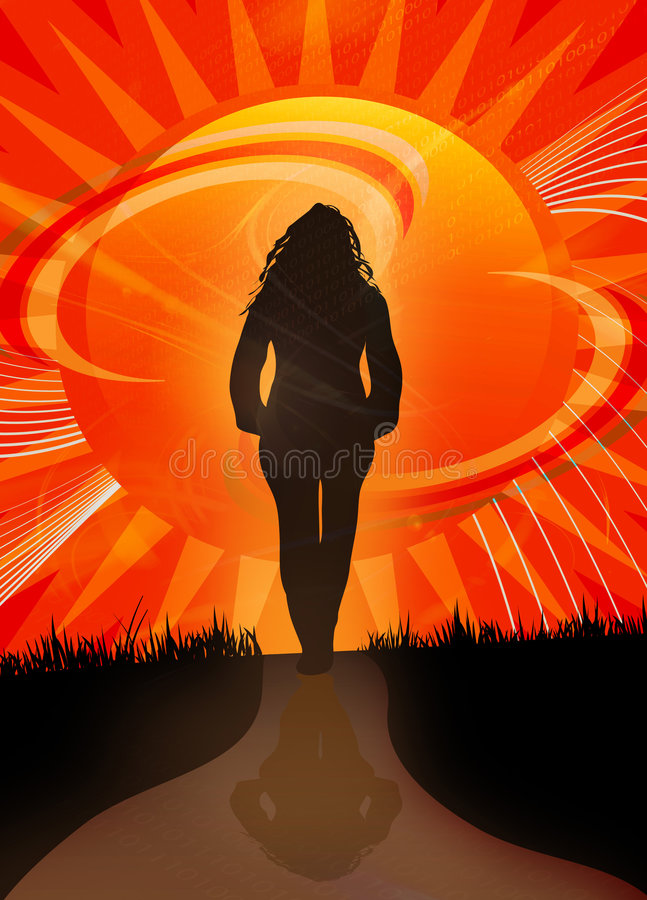 Sunset Path vector illustration