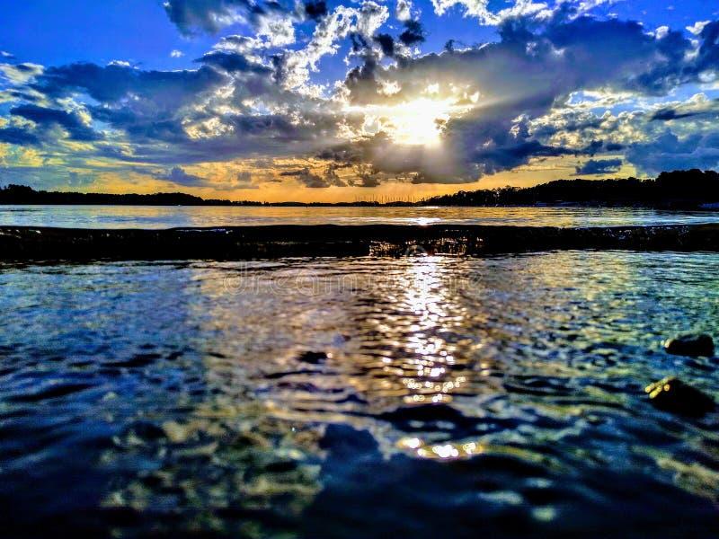 Sunset peeps royalty free stock image
