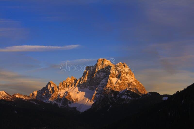 Sunset Pelmo stock photography