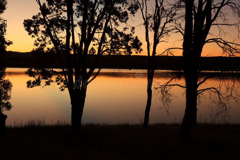 Sunset Penrith Lakes Australia royalty free stock photo