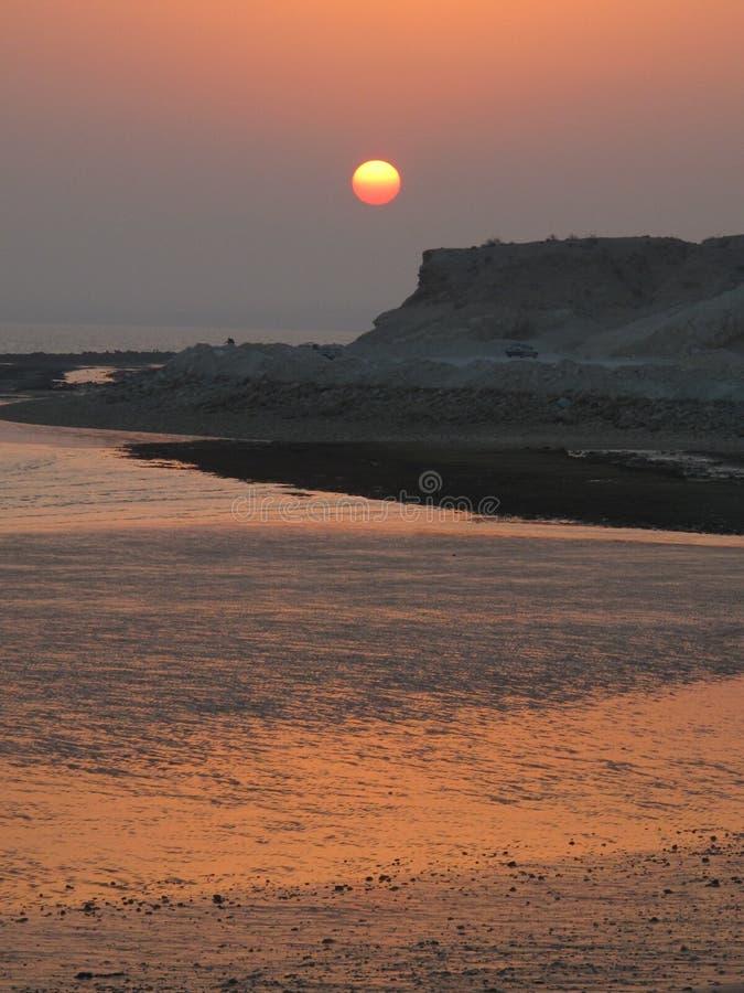 Sunset Persian Gulf royalty free stock photography