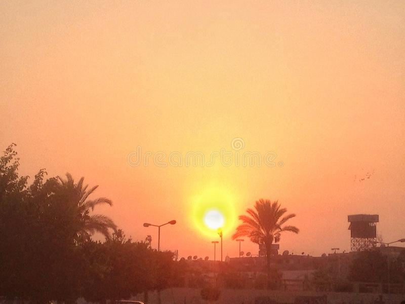 Sunset photo. Sunset in my hometown portsaid stock images
