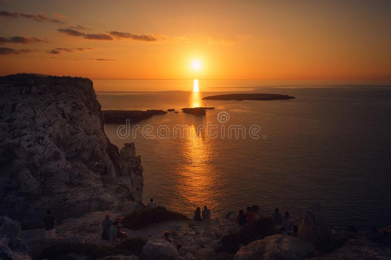 Sunset Photography of Mountain royalty free stock image