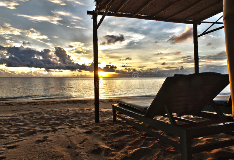 Sunset In Phu Quoc Close To Duong With Sun Be Royalty Free Stock Photos