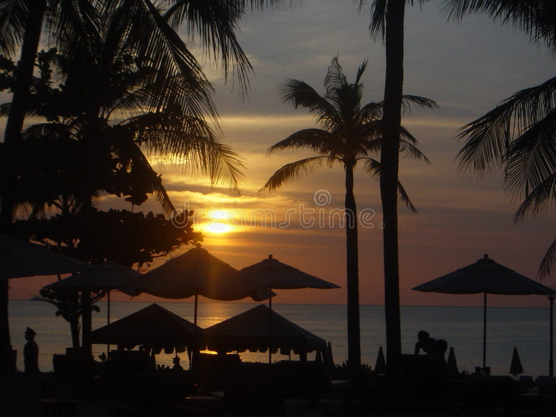 Sunset in Phuket, Thailand royalty free stock photos