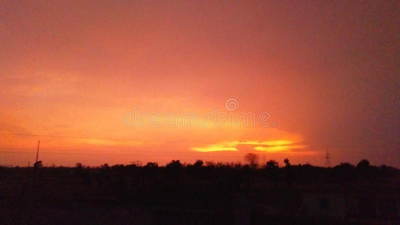 The sunset royalty free stock photo