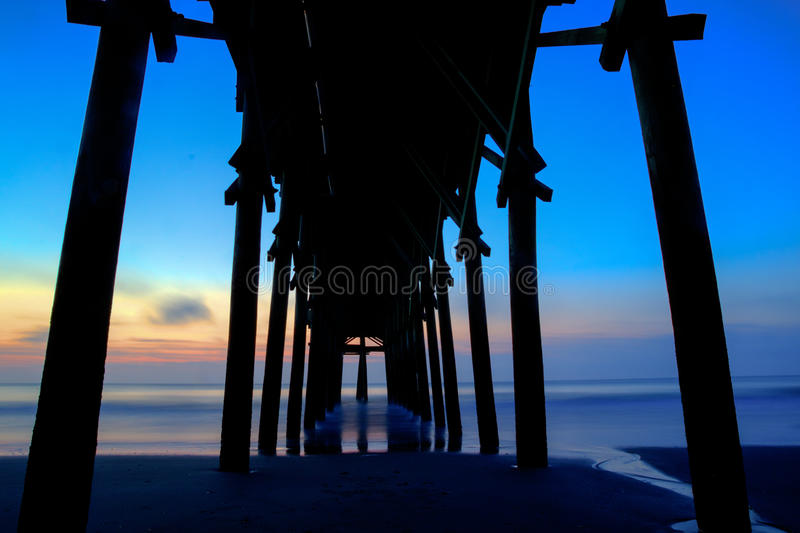 Sunset Pier stock image