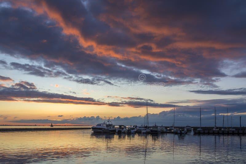 Sunset - Pirita Marina - Tallinn - Estonia stock photography