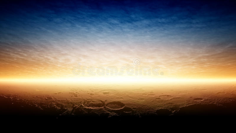 Download Sunset on planet Mars stock image. Image of mysterious - 28702829