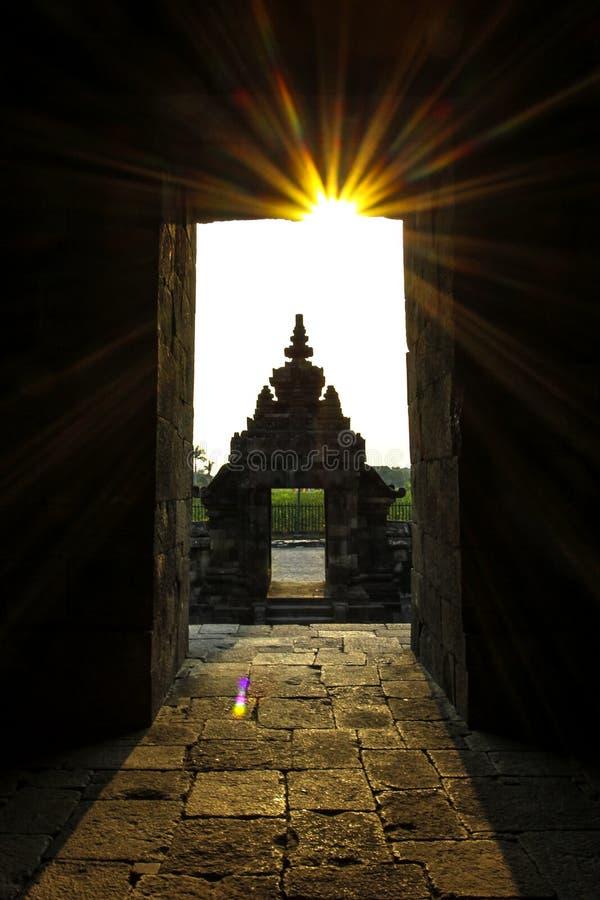 Sunset at Plaosan Temple royalty free stock photos
