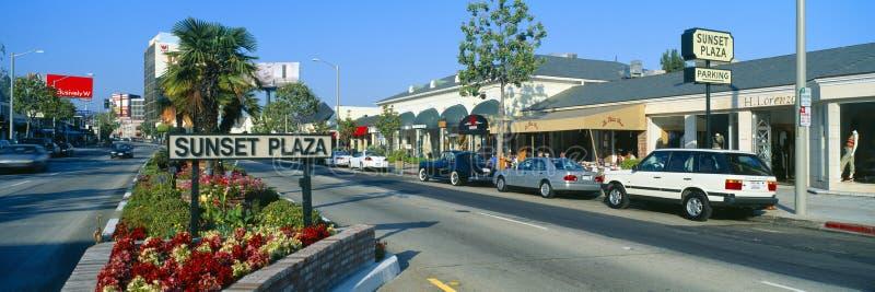 Sunset Plaza California stock photos