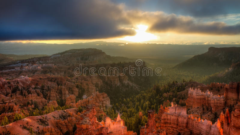 Sunset Point, Bryce Canyon National Park. Sunset Point - HDR version, Bryce Canyon National Park stock image