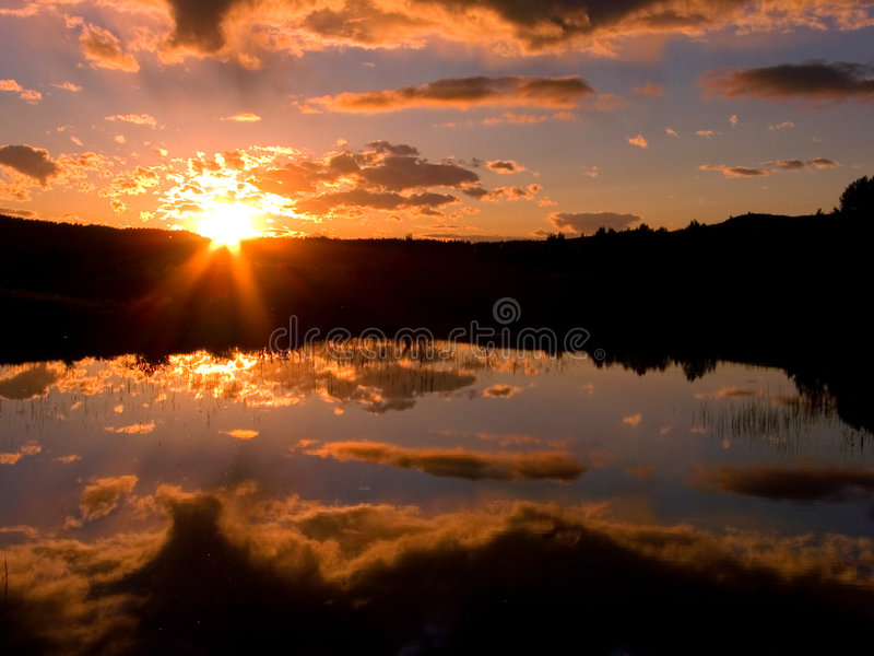 Download Sunset Pond stock photo. Image of water, peaceful, dusk - 502132
