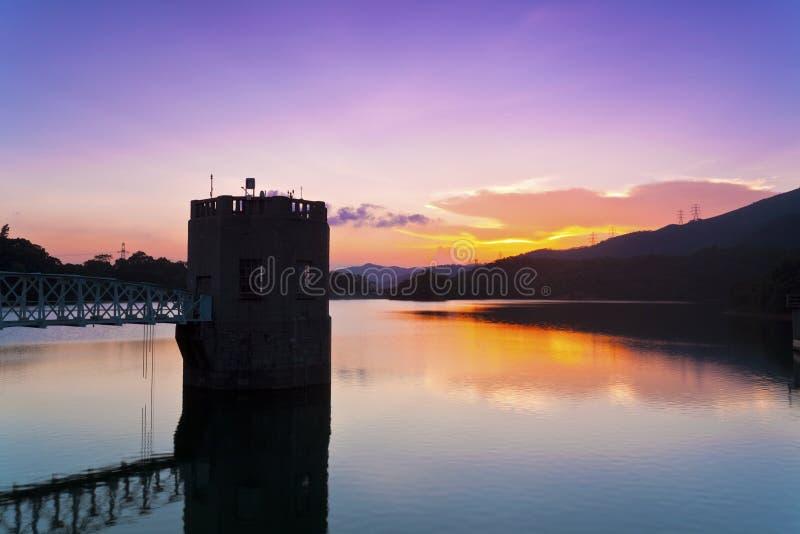 Download Sunset At Pond In Hong Kong Stock Photo - Image: 26236522