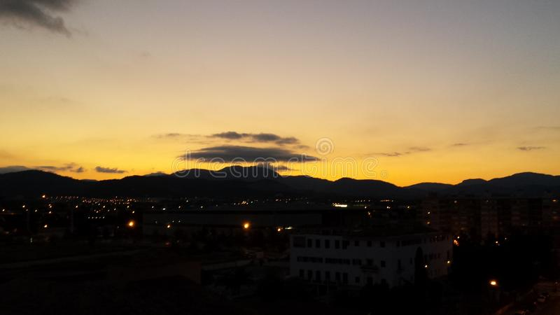 Sunset Port de Soller στοκ εικόνα