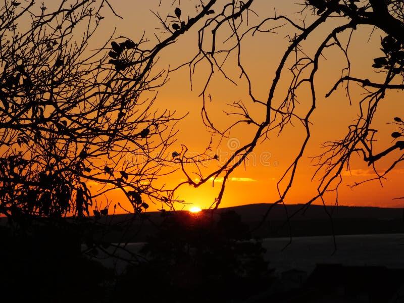 Sunset in Porto Alegre, Brazil. stock image