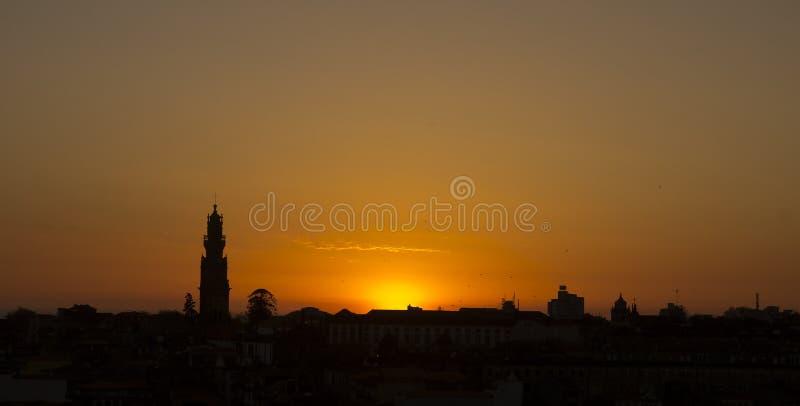 Sunset Porto Portugal royalty free stock photo