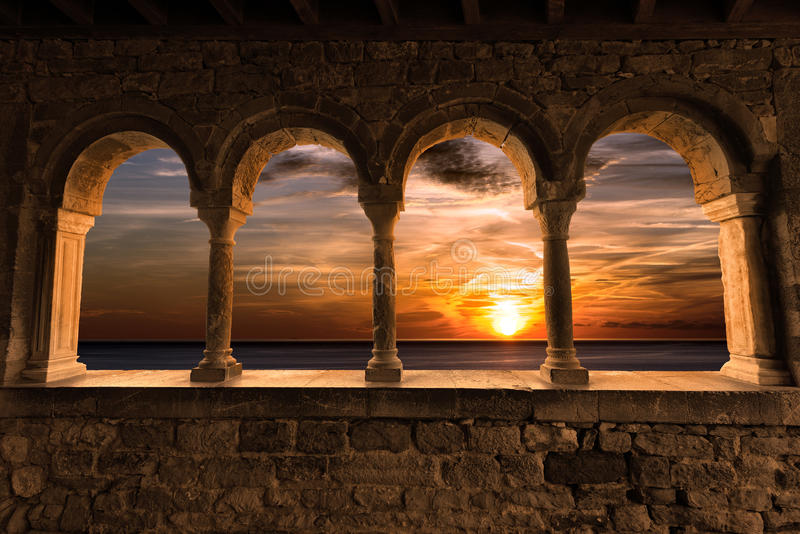 Sunset in Portovenere - Liguria Italy stock photography