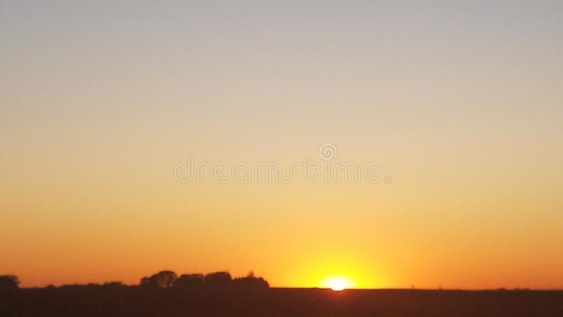 Sunset on the prairie royalty free stock photography