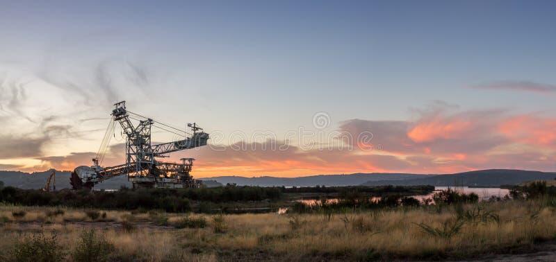 sunset przemysłowe zdjęcia stock