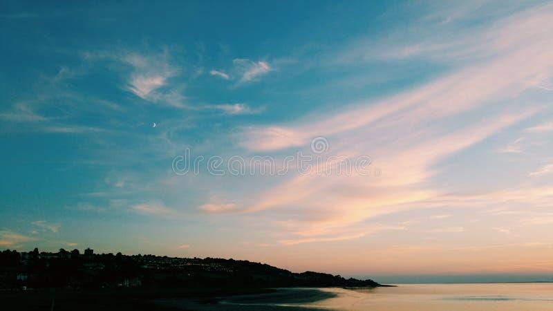 sunset przybrzeżne obrazy stock