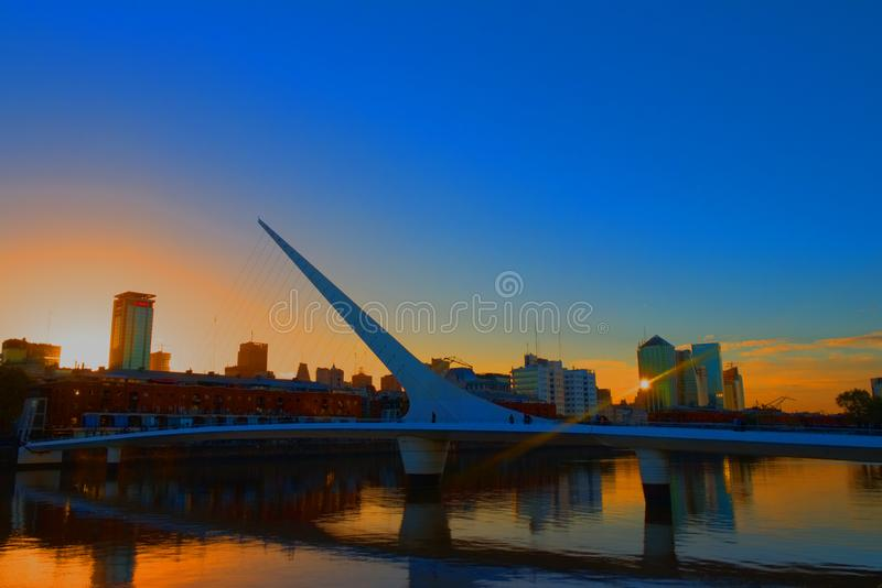 Sunset in Buenos Aires. Sunset in Puerto Madero, Buenos Aires. a city full of charms stock image