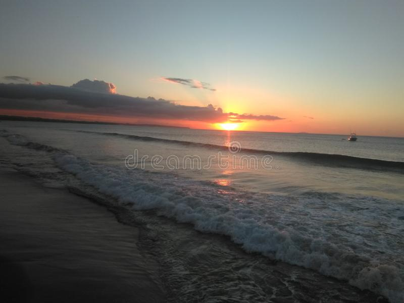 Sunset in Puerto Rico royalty free stock photo