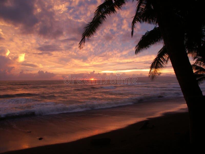 Sunset in Punta Banco stock image