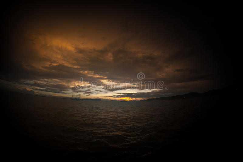 Sunset in Raja Ampat, Indonesia royalty free stock photography