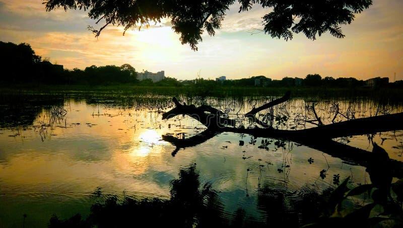 Sunset. This is the sunset at Ramanathapuram, Tamilnadu in India stock photos