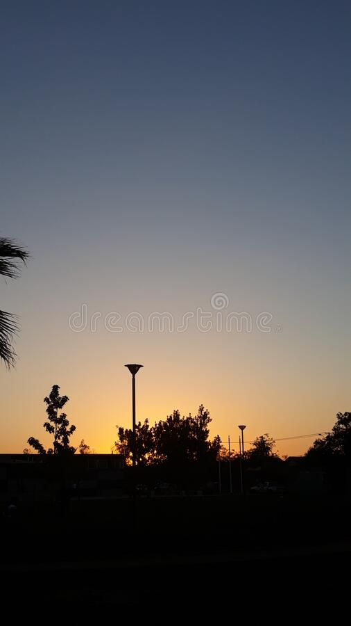 Sunset at rancagua chile stock image