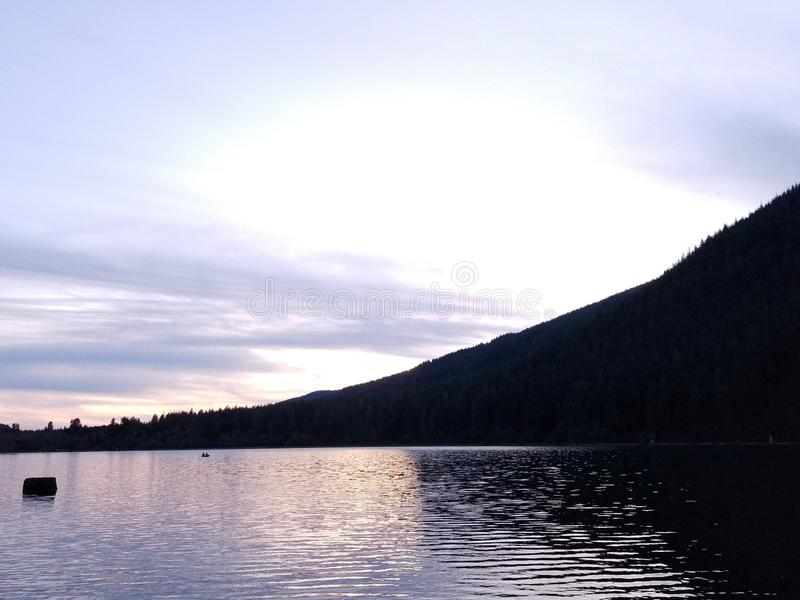 Sunset @ Rattlesnake Lake stock images