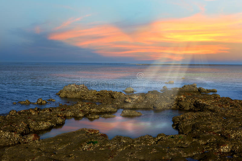 Download Sunset Ray stock image. Image of horizontal, nobody, wide - 39510783