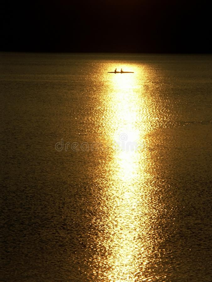 In the sunset rays royalty free stock photos