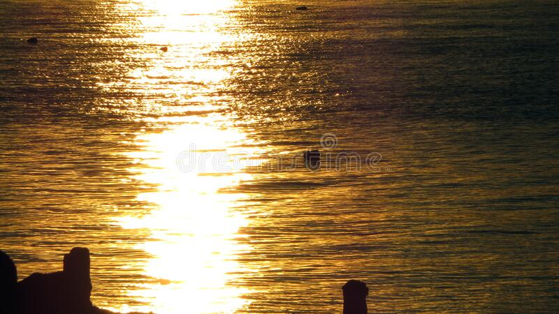 Sunset Reflection stock images
