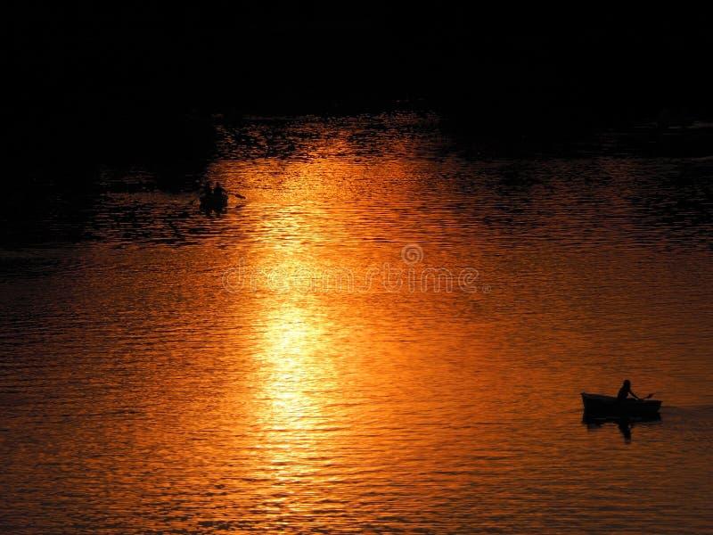 Sunset reflection stock photos