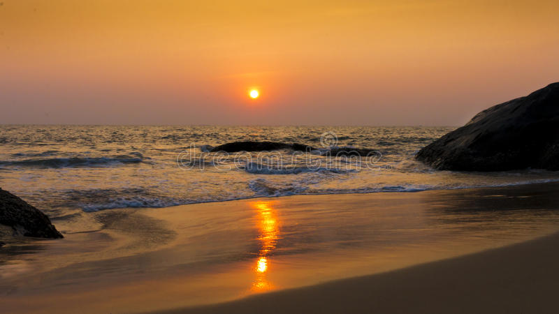 Sunset reflection on water royalty free stock photos
