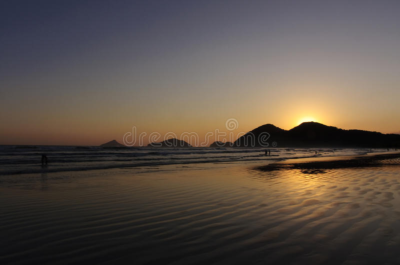 Sunset Reflexion in the Ocean royalty free stock photo
