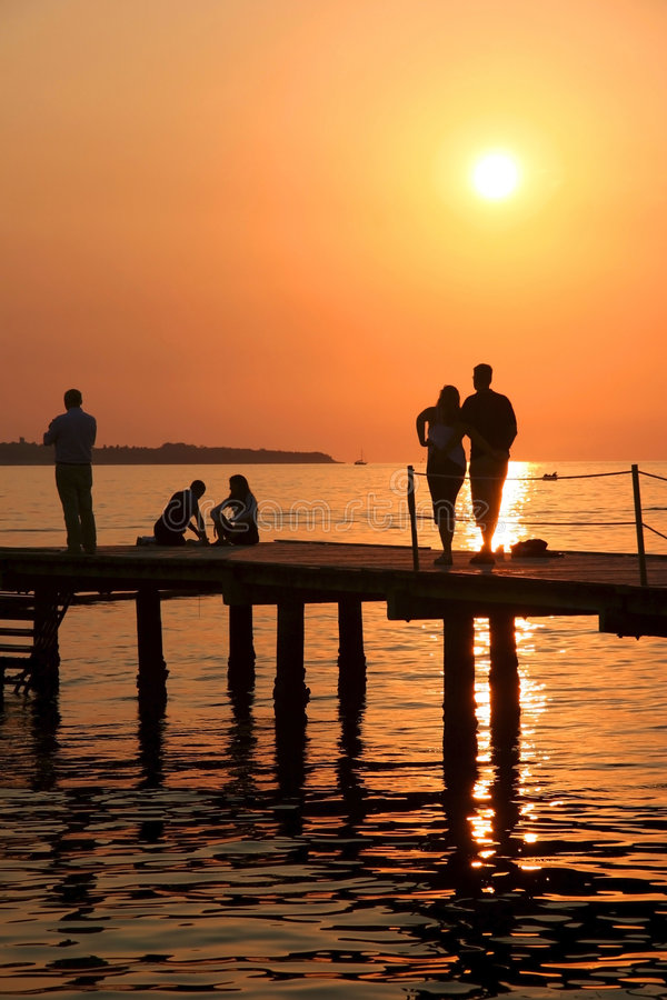 Download Sunset relaxing. stock photo. Image of dusk, adriatic - 4376110
