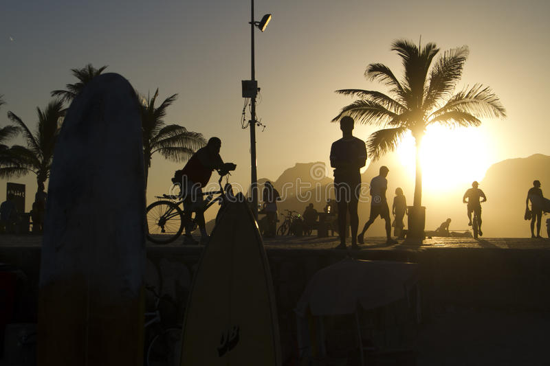 Sunset in Rio stock photography