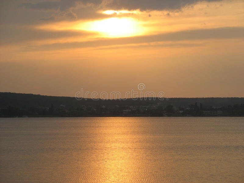 Download Sunset at the river stock photo. Image of reflection - 15990584